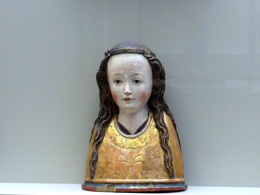 Reliquienbüste einer Heiligen, um 1470 - 1480