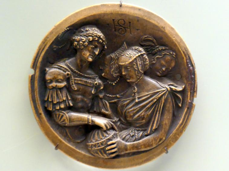 Hans Schwarz: Jephta, von seiner Tochter begrüßt, um 1520