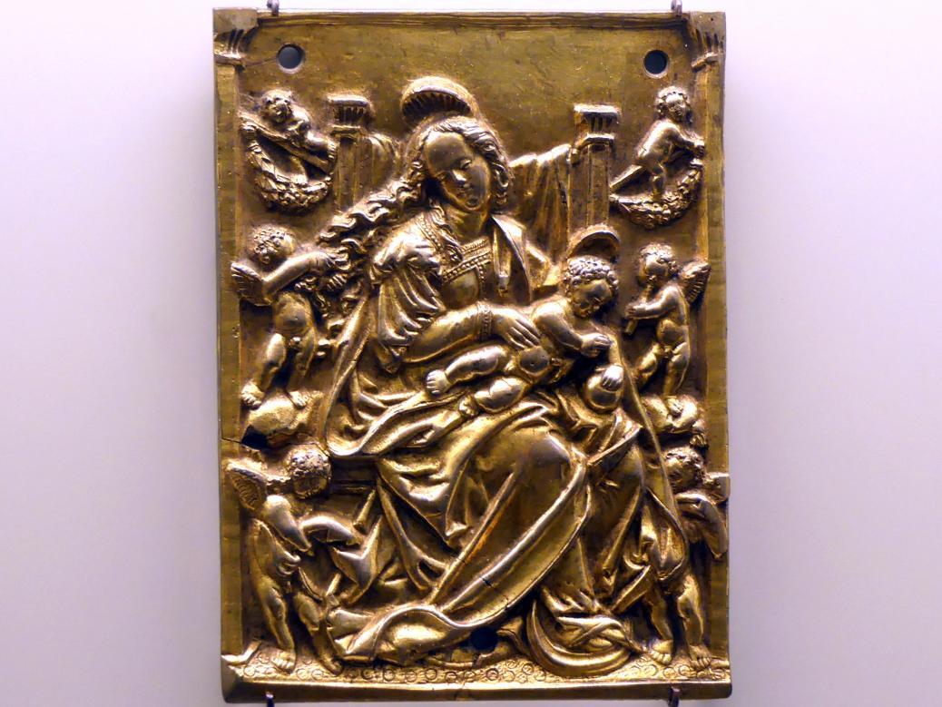 Hans Schwarz (Umkreis): Maria mit dem Kind und sechs Engelsputten, um 1510 - 1520