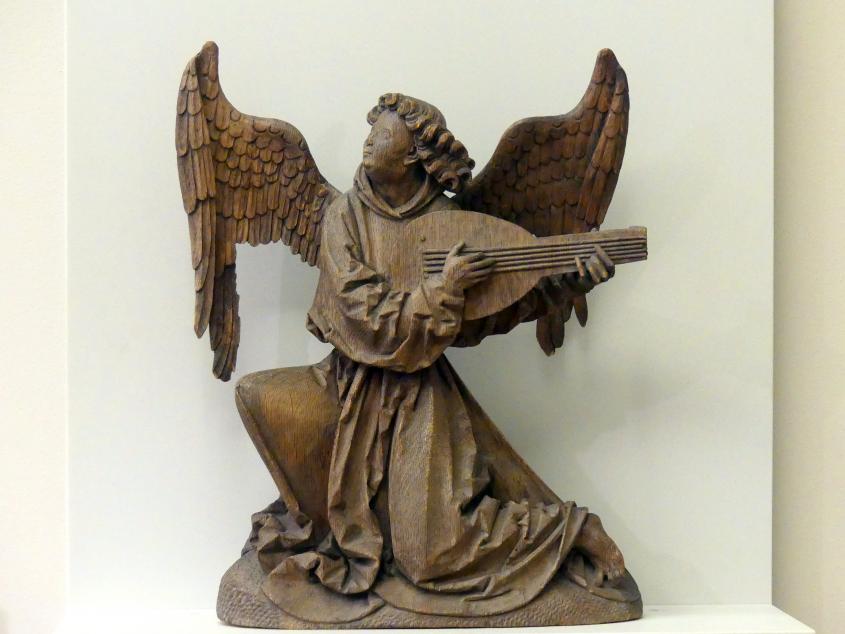 Hans Brüggemann (Johannes Brüggemann): Engel auf einer Laute spielend, um 1520