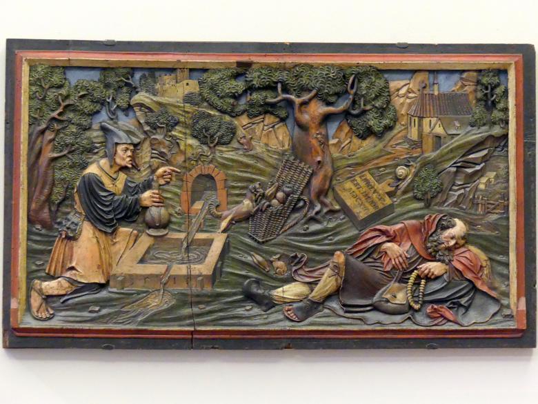 Monogrammist HSR: Allegorie auf das Versagen während der Pilgerschaft des Lebens, 1519