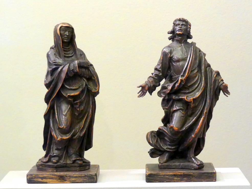 Maria und Johannes aus einer Kreuzigung Christi, um 1520