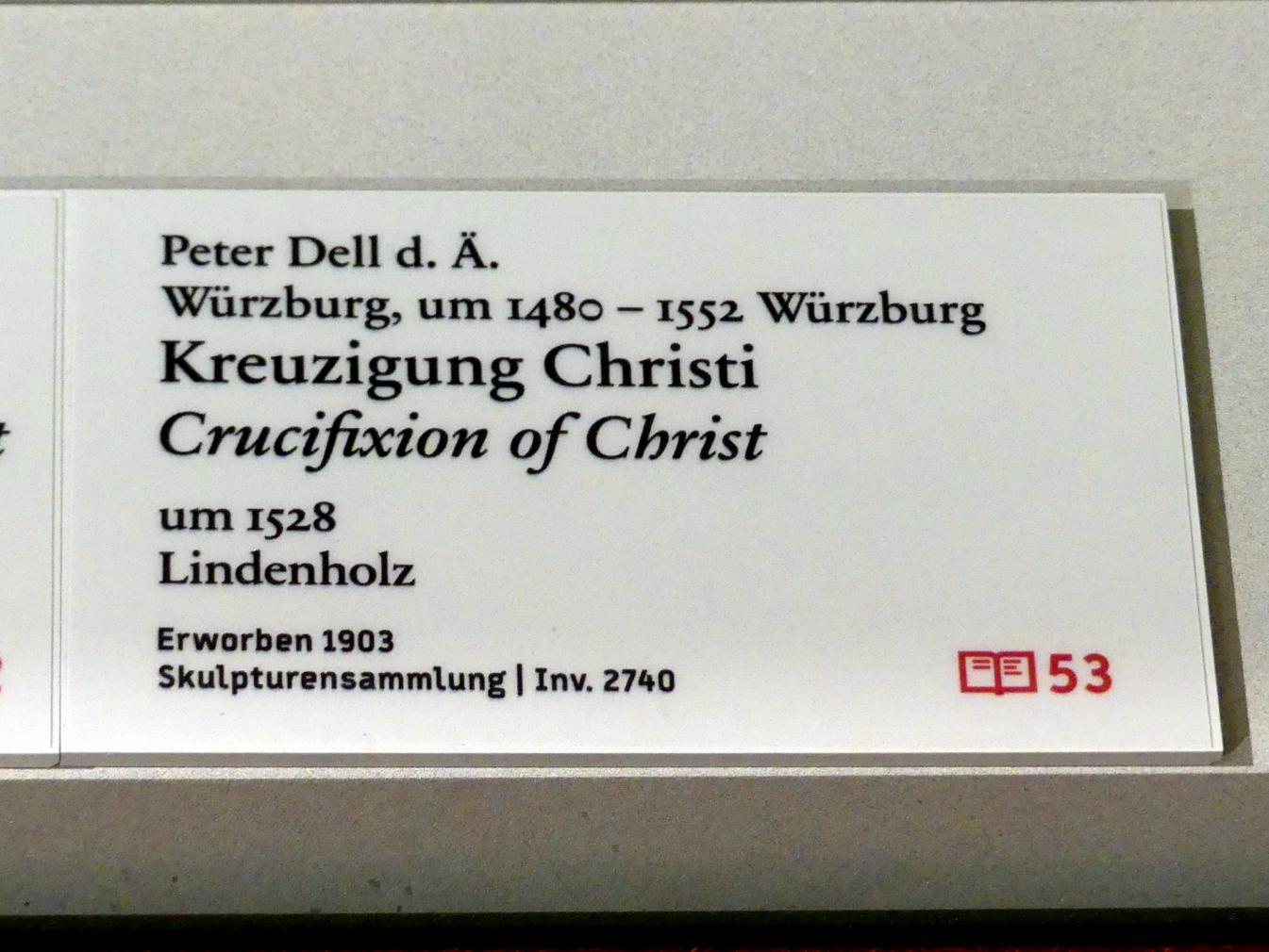 Peter Dell der Ältere: Kreuzigung Christi, um 1528, Bild 2/2