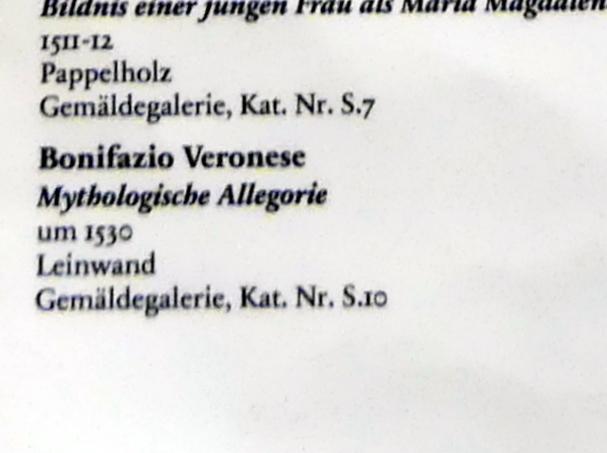 Bonifacio Veronese: Mythologische Allegorie, um 1530, Bild 2/2