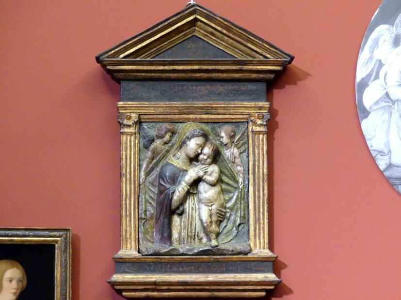 Maria mit dem Kind und zwei Engeln, um 1460