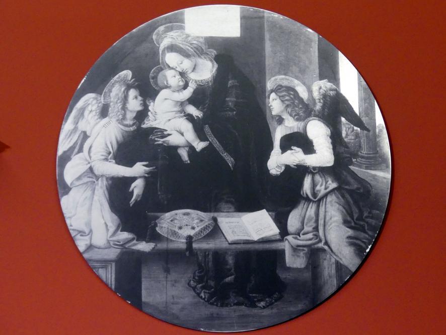 Raffaellino del Garbo: Maria mit dem Kind und zwei Engeln, um 1490 - 1500