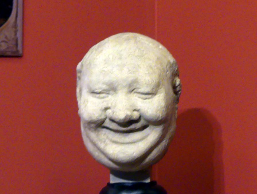 Maske eines lachenden Narren, 16. Jhd.