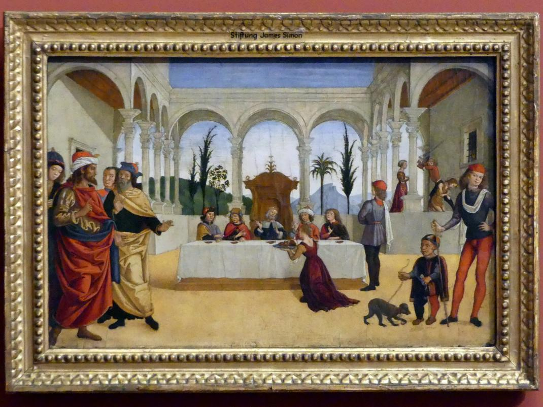 Antoniazzo Romano (Antonio di Benedetto degli Aquili): Das Fest des Herodes, um 1490
