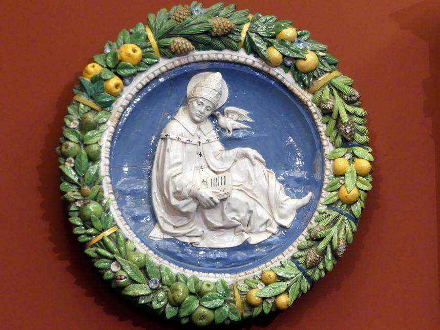 Andrea della Robbia: Der hl. Gregor der Große, um 1480 - 1490