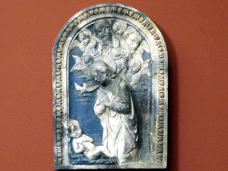Andrea della Robbia: Die Anbetung des Kindes, um 1480 - 1490