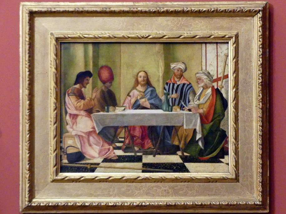 Giovanni Bellini (Nachahmer): Abendmahl in Emmaus, um 1520
