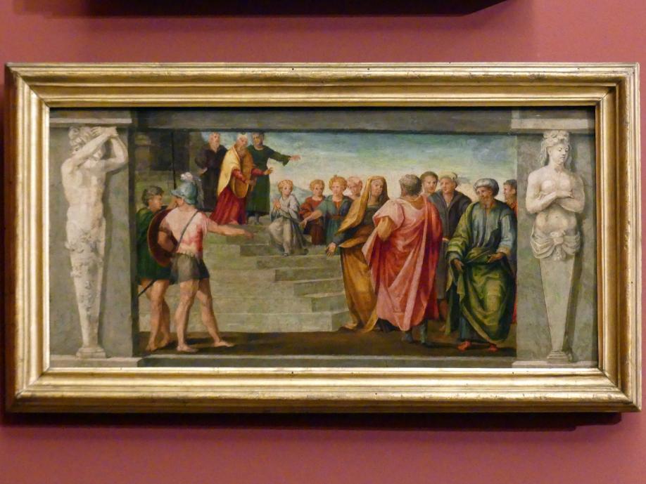 Tommaso Bernabei (Papacello): Der Tempelgang Mariens, um 1540