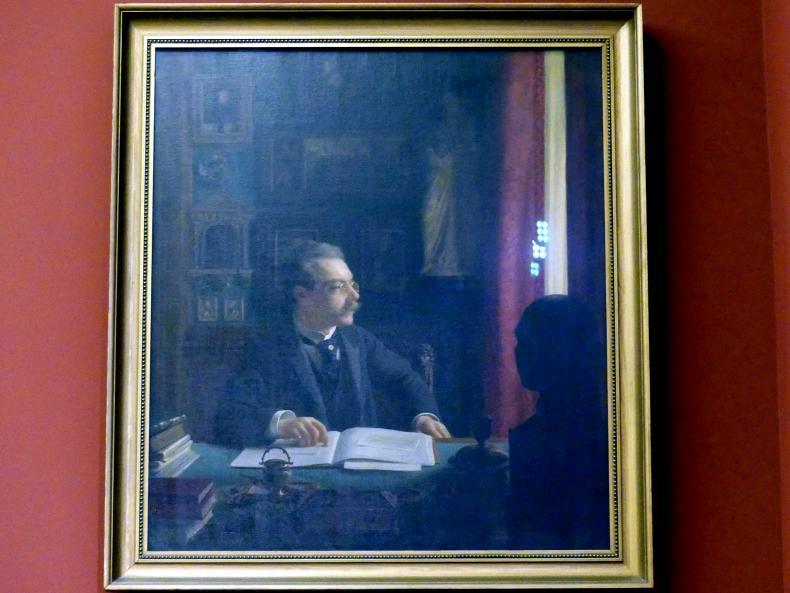 Willi Döring: Bildnis von James Simon am Schreibtisch seines Arbeitszimmers, 1901