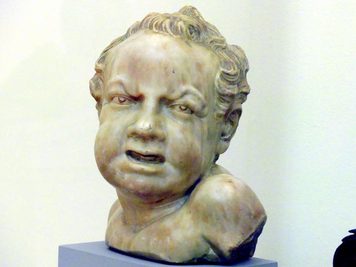 Hendrick de Keyser (Umkreis): Büste eines mißmutigen Knaben, 1. Hälfte 17. Jhd.