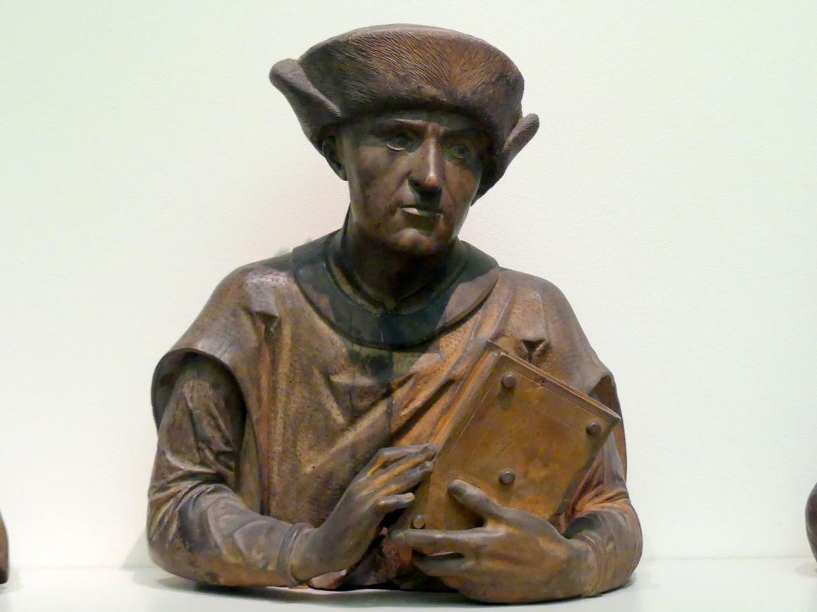 Bartloser Mann mit Pelzkappe, vor 1518