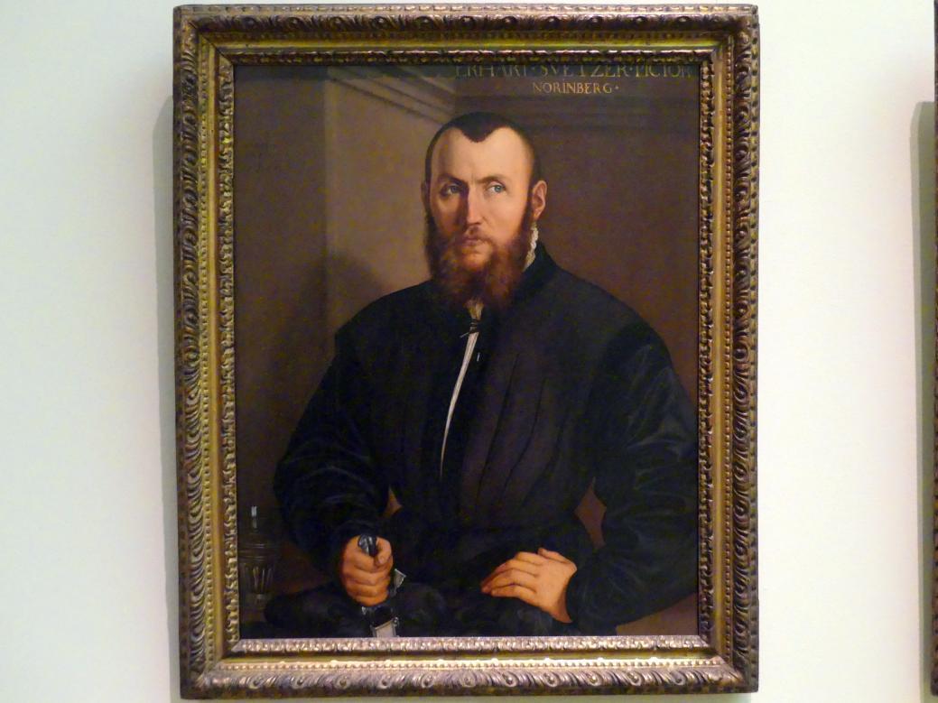 Georg Pencz: Der Nürnberger Maler Erhard Schwetzer, 1544