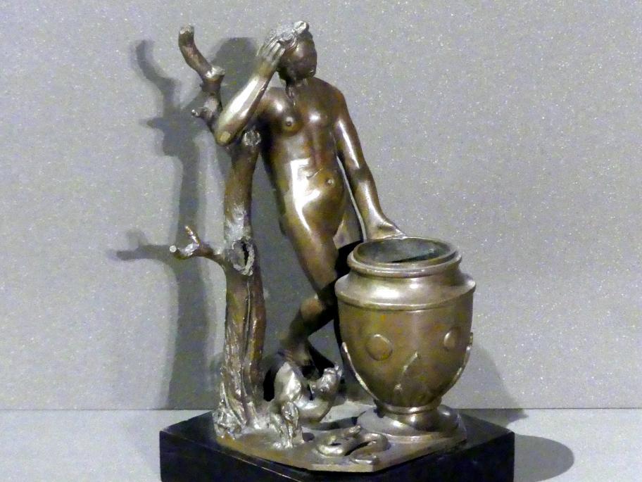 Georg Vischer: Tintenfaß mit sinnender Frau, 1547
