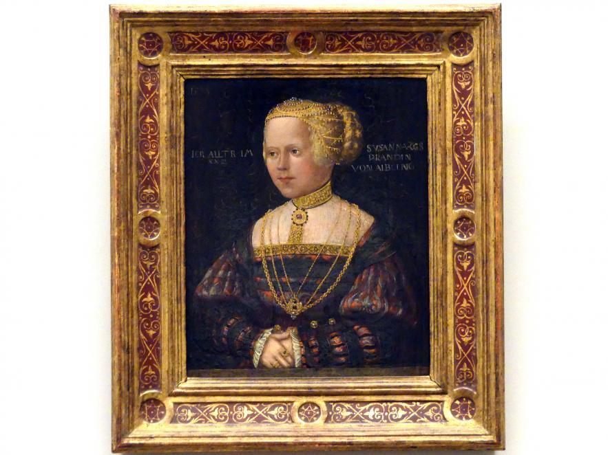 Hans Schöpfer der Ältere: Susanna Prand von Aibling, 1538