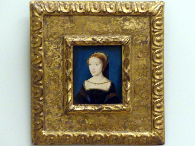 Corneille de Lyon: Bildnis einer jungen Dame, vermutlich Jacqueline de Rohan, um 1535 - 1536