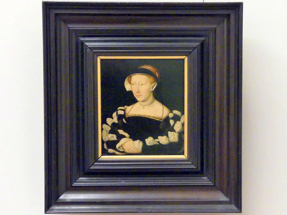 Corneille de Lyon: Bildnis einer Dame im schwarzen Samtkleid, 1533