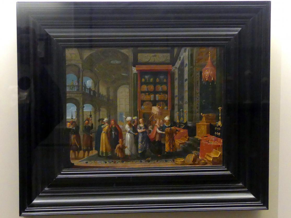 Adriaen van Stalbemt: König Salomon und die Königin von Saba, 17. Jhd.