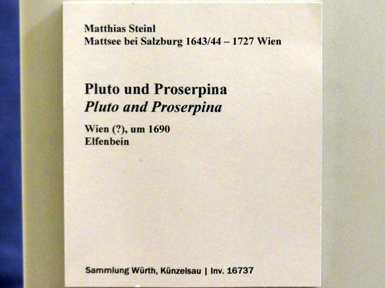 Matthias Steinl: Pluto und Proserpina, um 1690, Bild 2/2