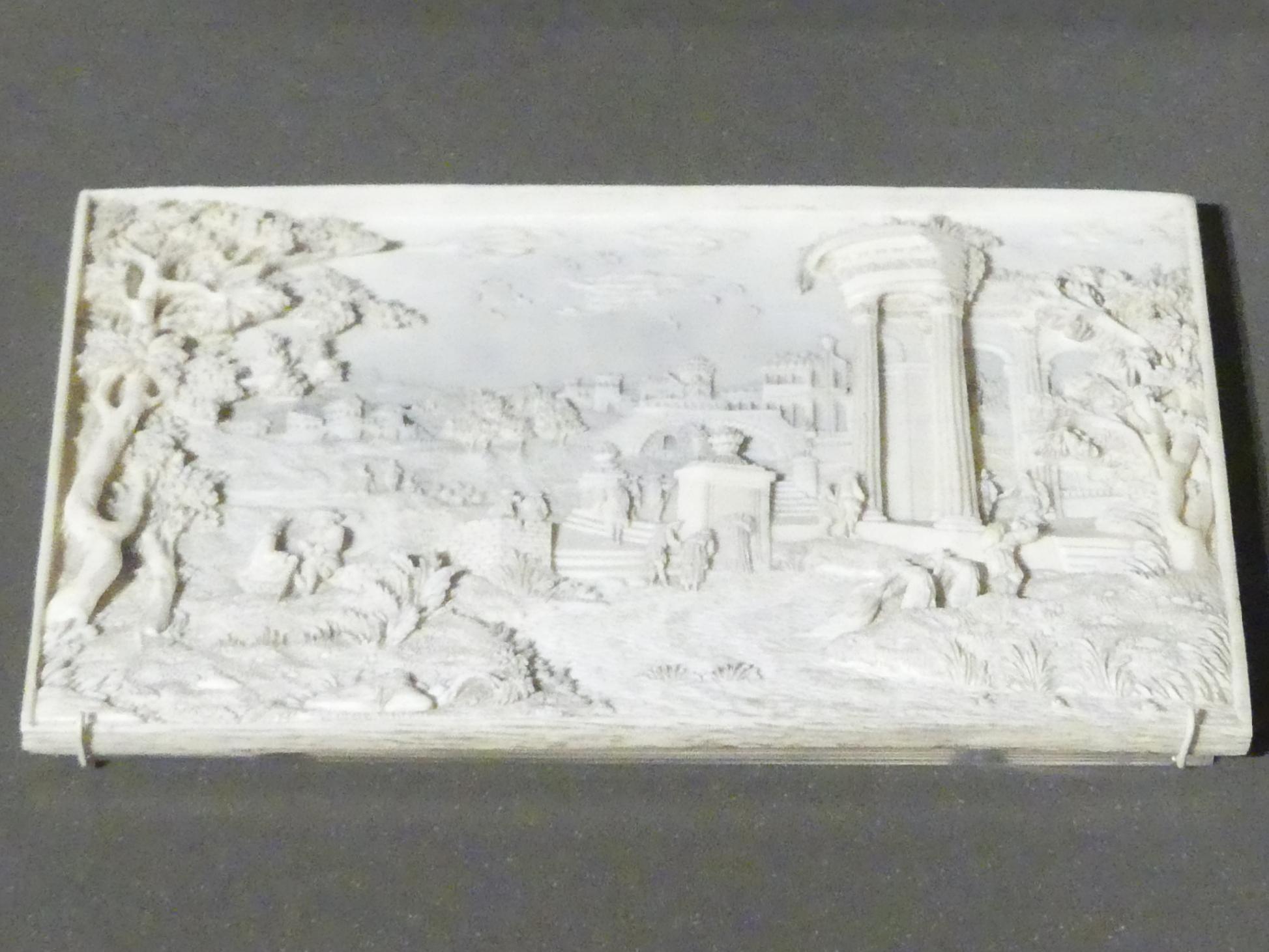 Landschaft mit antikem Tempel, Beginn 18. Jhd.