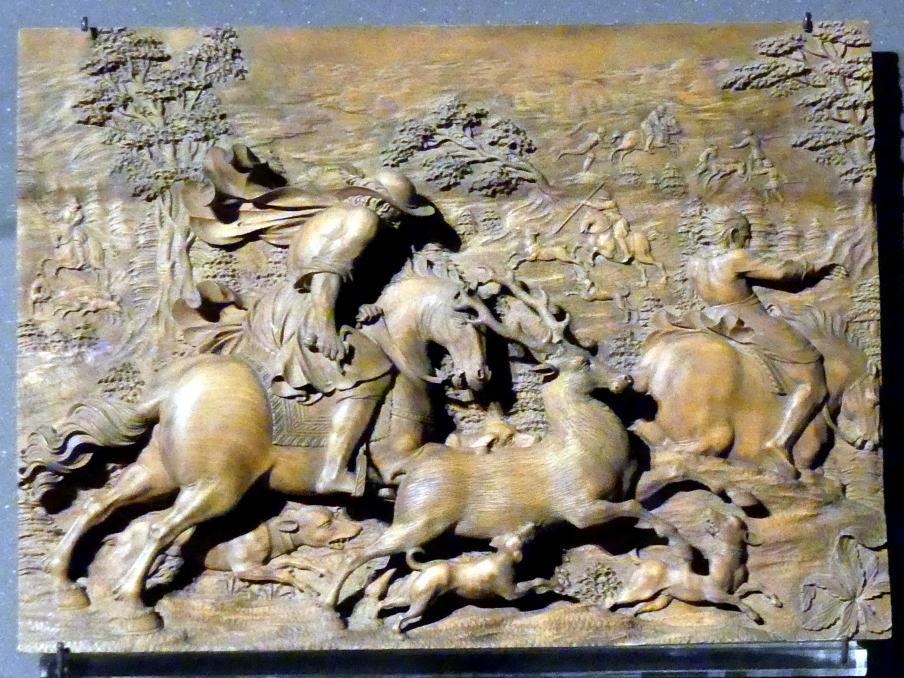 Ignaz Elhafen: Jagd auf einen Hirsch und anderes Rotwild, um 1690
