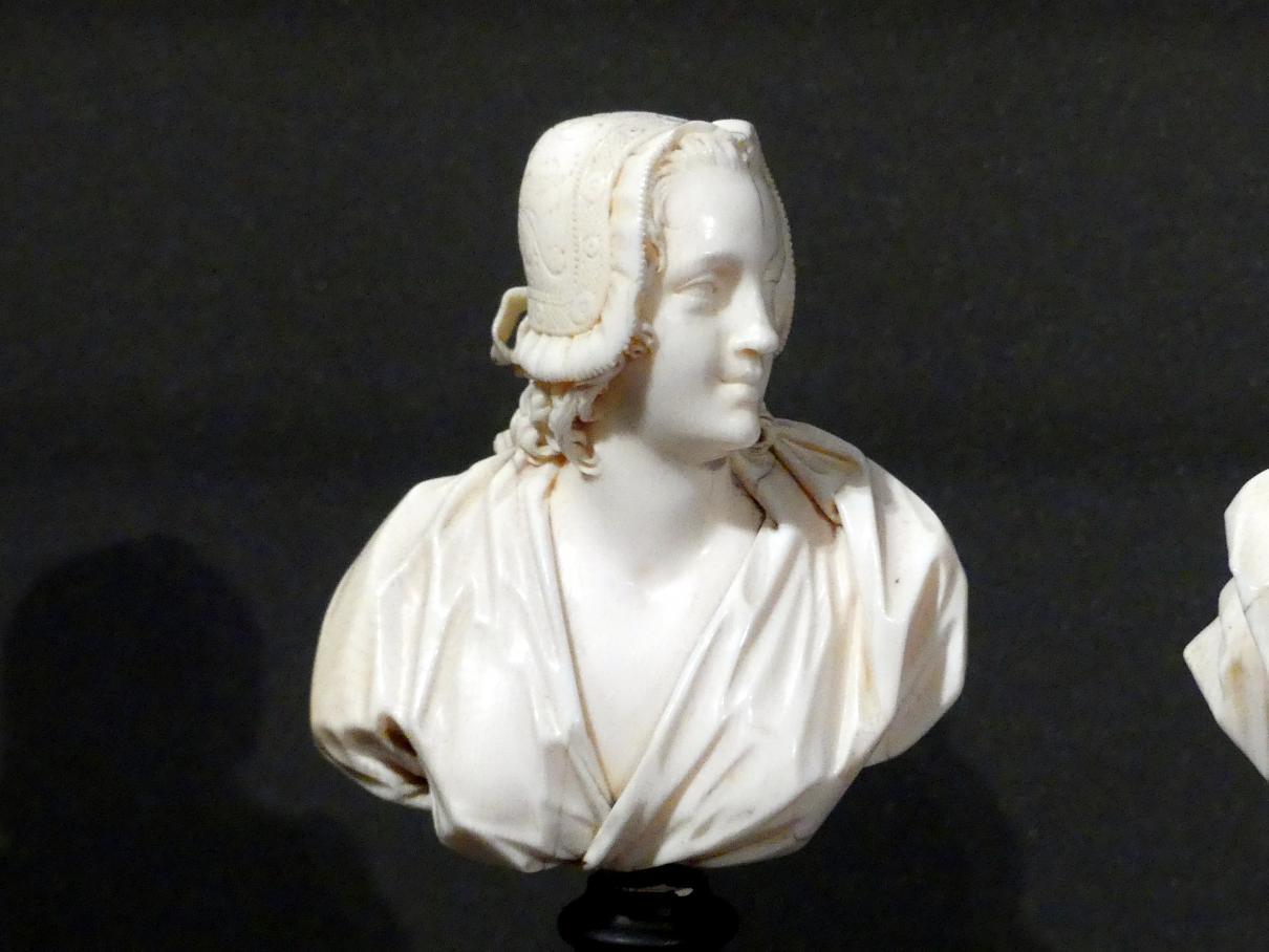 Ludwig Lücke (Johann Christian Ludwig Lücke): Büste einer jungen Frau mit Häubchen, um 1740