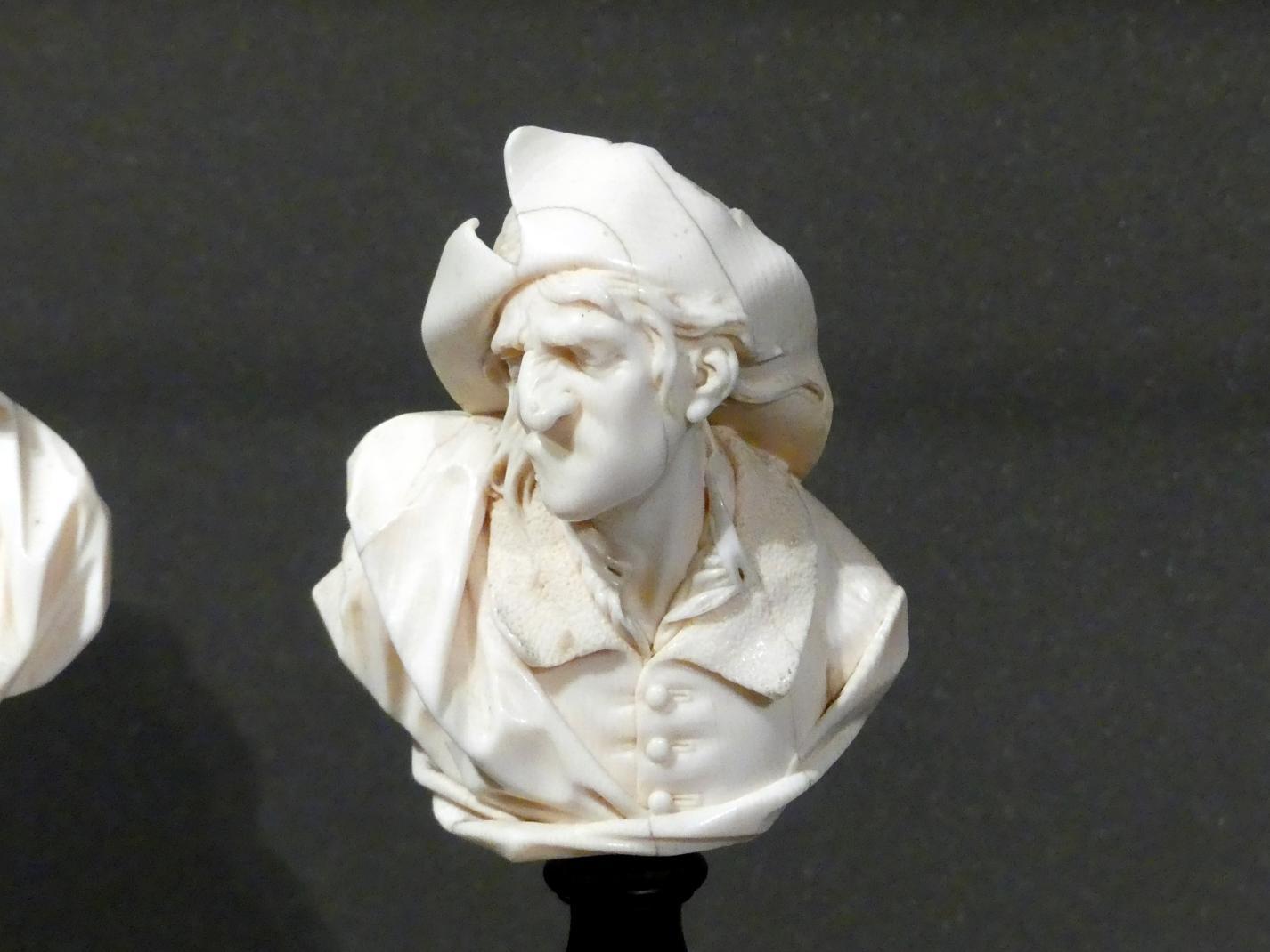 Ludwig Lücke (Johann Christian Ludwig Lücke): Büste eines grimassierenden Mannes mit Schlapphut, um 1740