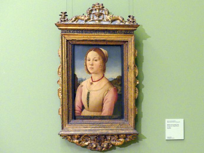 Meister von Santo Spirito: Bildnis einer jungen Frau, um 1485 - 1490
