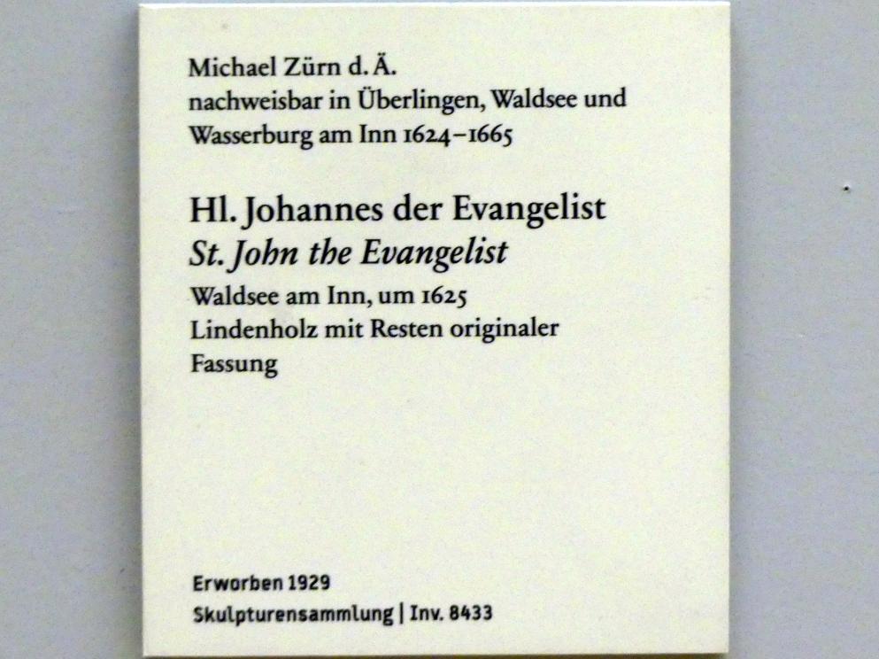 Michael Zürn der Ältere: Hl. Johannes der Evangelist, um 1625, Bild 3/3