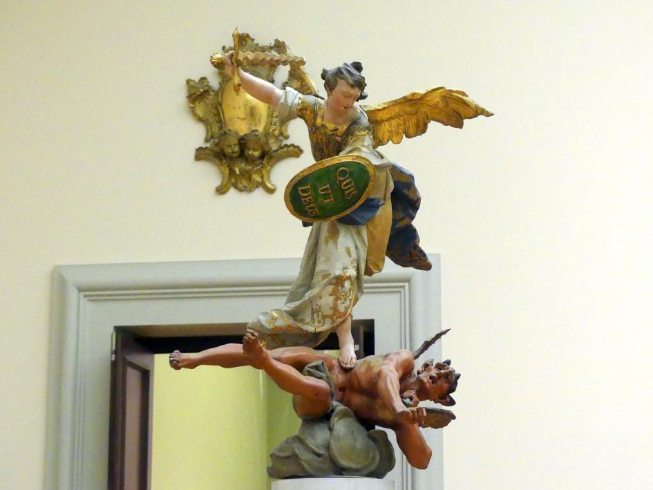 Ignaz Günther: Der hl. Michael als Bezwinger des Satans, 1755 - 1760