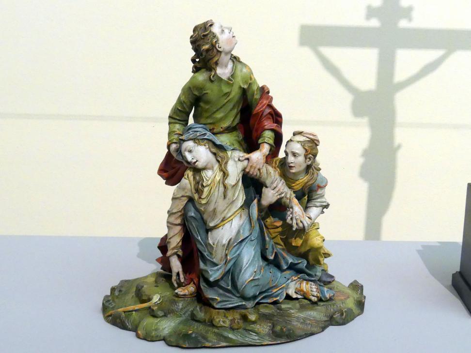 Johann Peter Schwanthaler der Ältere: Trauernde Maria mit Johannes und Magdalena, um 1760 - 1770