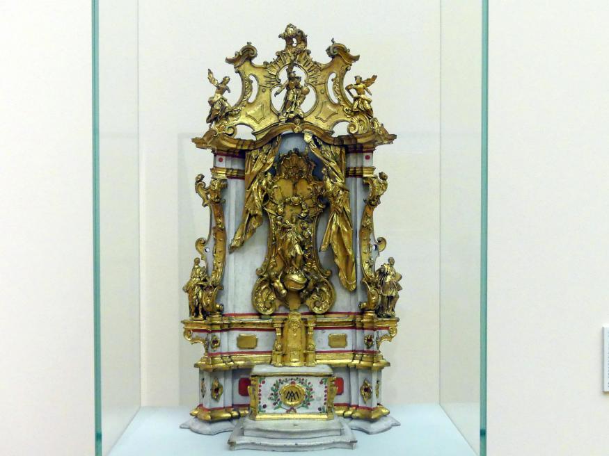 Konrad Hegenauer: Altarmodell mit Maria Immaculata und Gottvater, um 1760