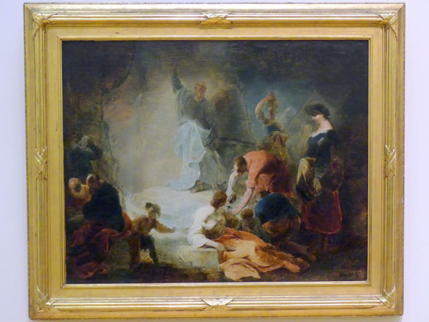 Januarius  Zick: Moses schlägt Wasser aus dem Felsen, um 1750 - 1760