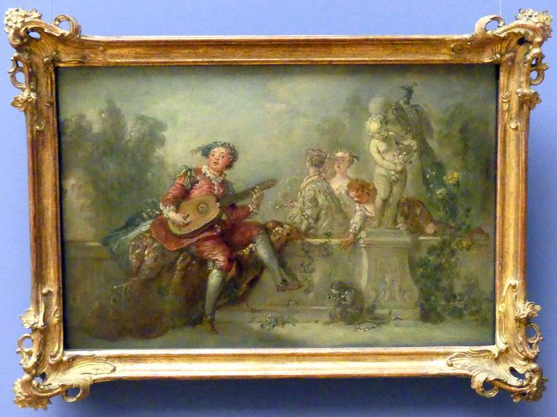 Antoine Pesne: Lautenspieler mit Gesellschaft im Park, um 1743