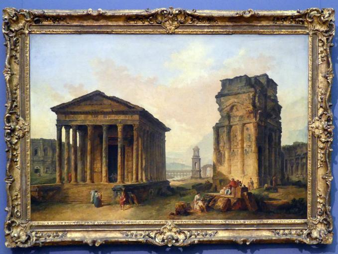 Hubert Robert: Die Ruinen von Nîmes, Oange und Saint-Rémy-de-Provence, um 1783 - 1789