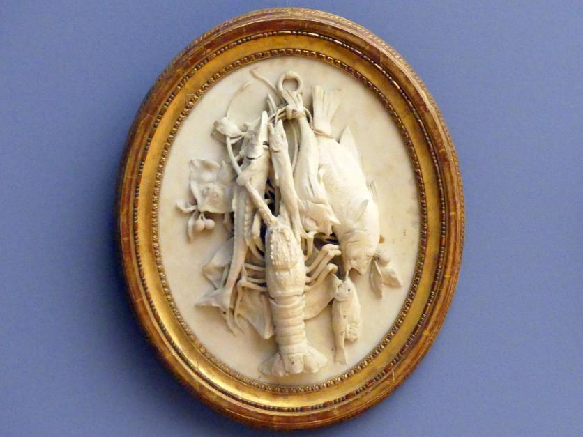 Jean-Antoine Houdon (Werkstatt): Stilleben (Fischfang), um 1777