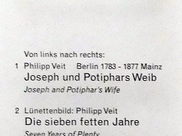 Philipp Veit: Joseph und Potiphars Weib, 1816 - 1817, Bild 2/2