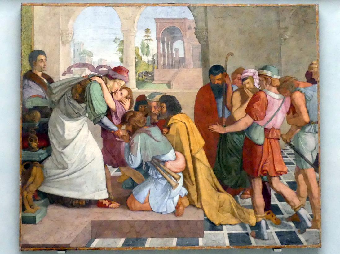 Peter von Cornelius: Joseph gibt sich seinen Brüdern zu erkennen, 1816 - 1817