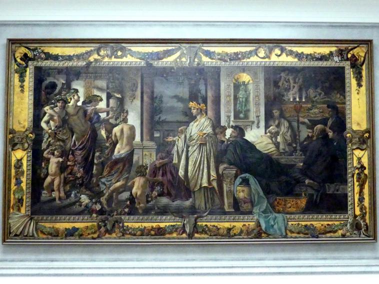 Anselm Feuerbach: Das Gastmahl (Nach Platon), 1871 - 1874