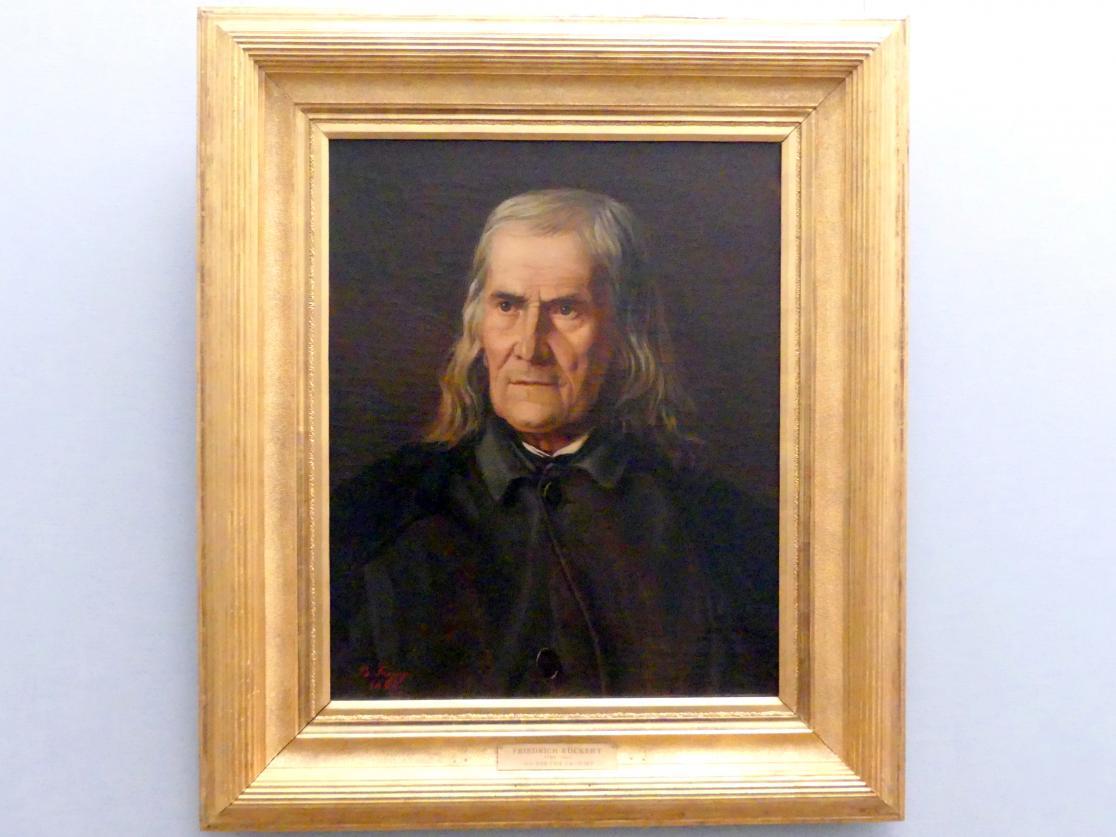 Bertha Froriep: Bildnis des Dichters Friedrich Rückert, 1864