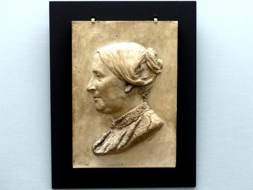 Ambrosia Theodora Tønnesen: Bildnisrelief einer älteren Dame, 1881