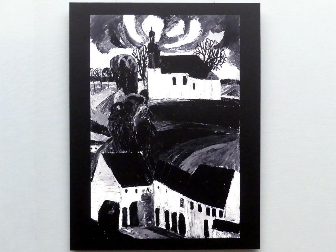 Ines Wetzel: Bayerische Landschaft mit Häusern, 1917