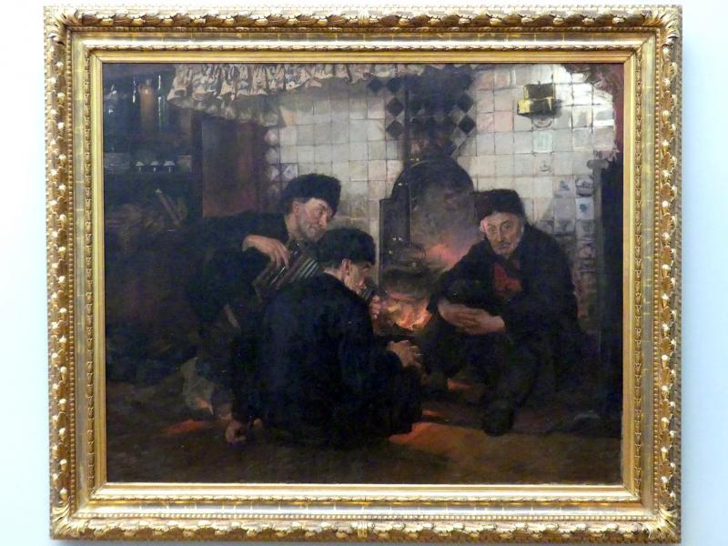 Paula Monjé: Männer am Kamin, 1904