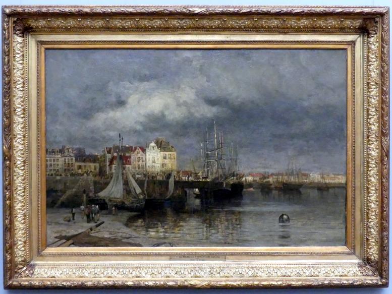 Maria von Parmentier: Der Hafen von Dieppe, vor 1878