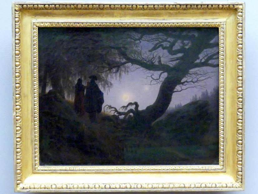 Caspar David Friedrich: Mann und Frau den Mond betrachtend, um 1818 - 1825