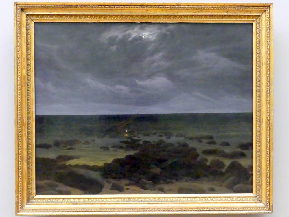 Caspar David Friedrich: Meeresküste bei Mondschein, um 1830