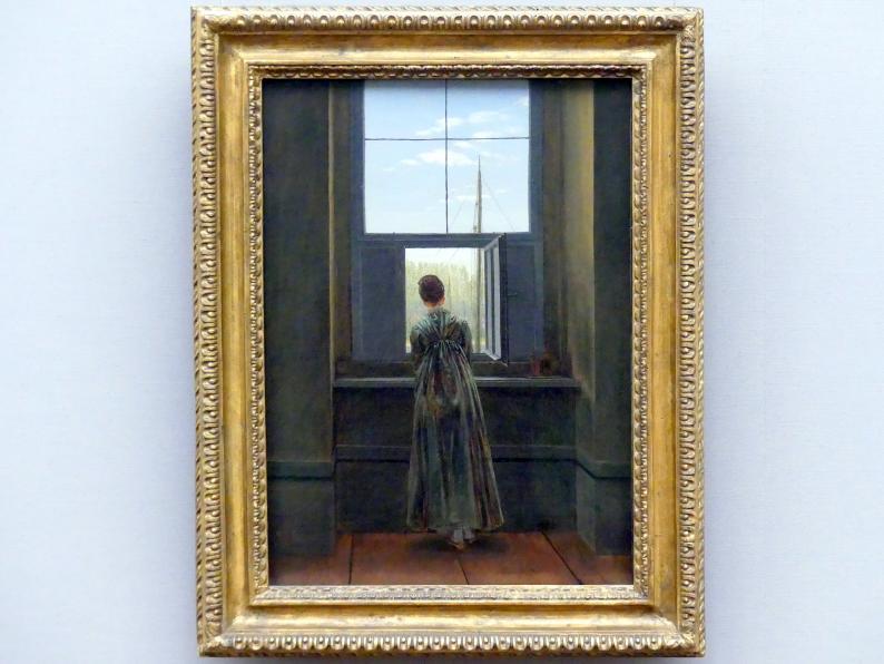 Caspar David Friedrich: Frau am Fenster, 1822